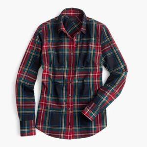 J Crew SLIM fit  plaid shirt